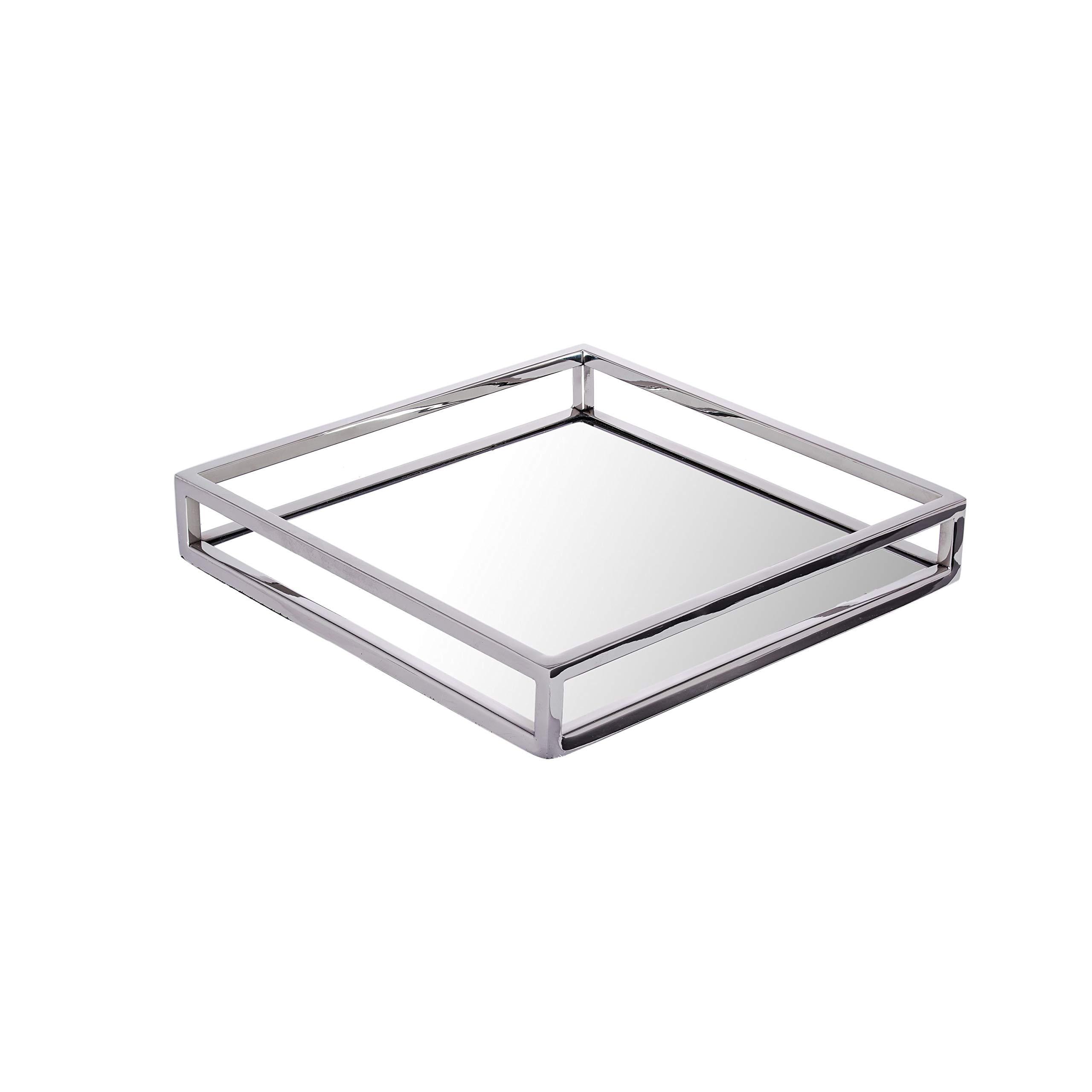 Pizzaz Beautiful Rectangular,Vanity Mirror Tray 12x12x2
