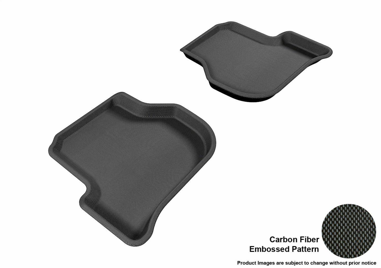 Kagu Rubber Black L1VW00801509 3D MAXpider Complete Set Custom Fit All-Weather Floor Mat for Select Volkswagen Jetta Models