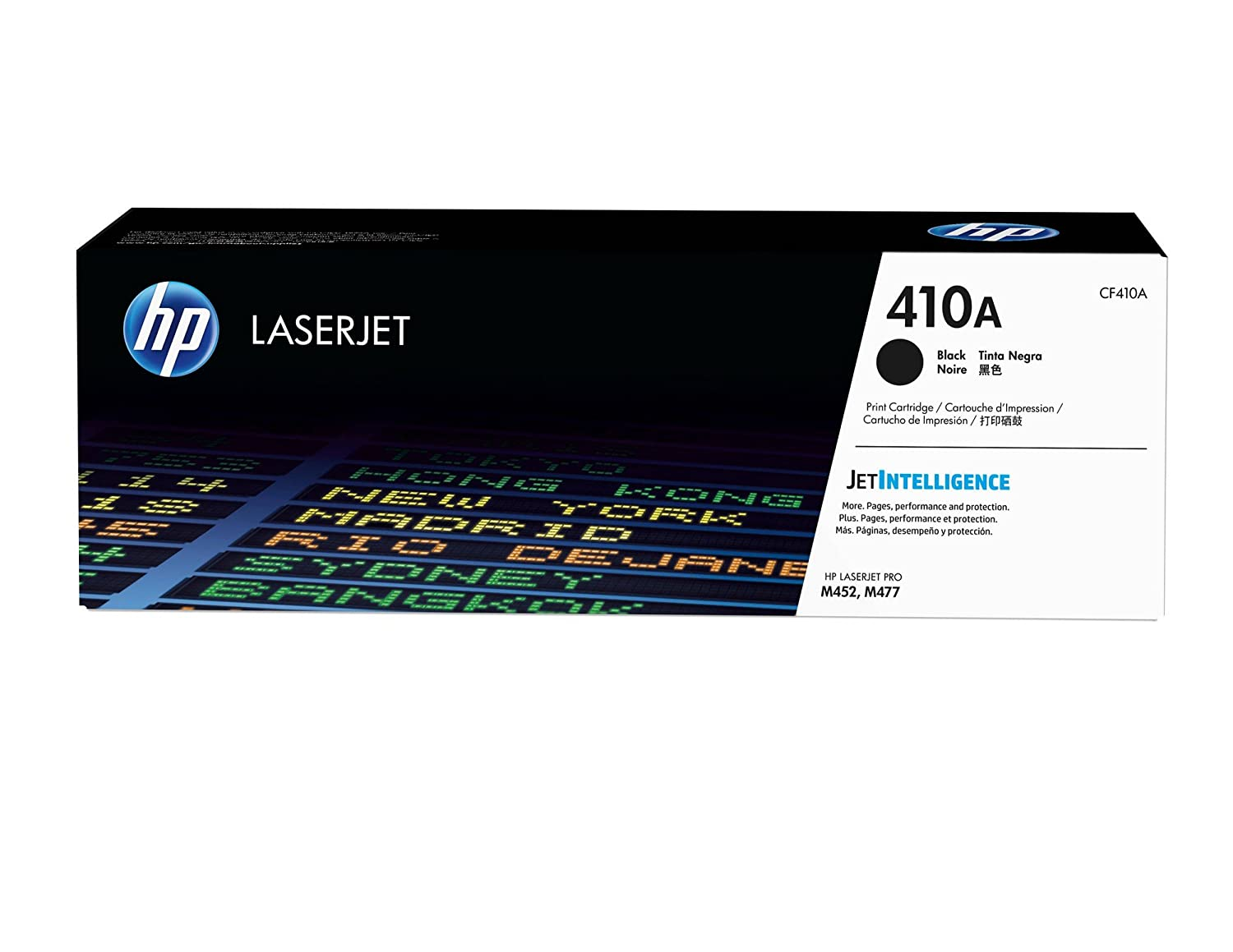 HP 410A (CF410A) Toner Cartridge, Black for HP Color LaserJet Pro M452dn, M452dw, M452nw, MFP M377dw, MFP M477fdn, MFP M477fdw, MFP M477fnw