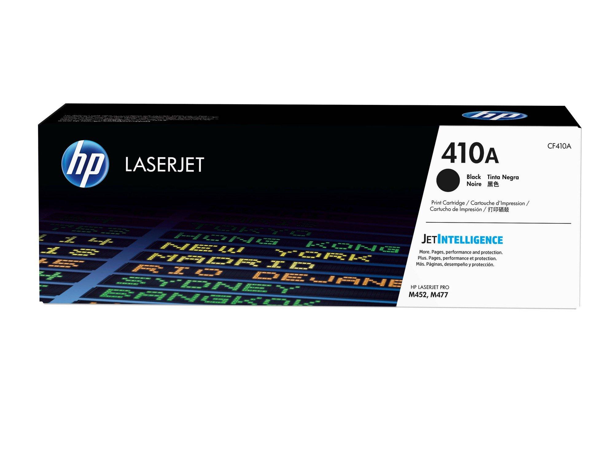 HP 410A (CF410A) Toner Cartridge, Black for HP Color LaserJet Pro M452dn, M452dw, M452nw, MFP M377dw, MFP M477fdn, MFP M477fdw, MFP M477fnw