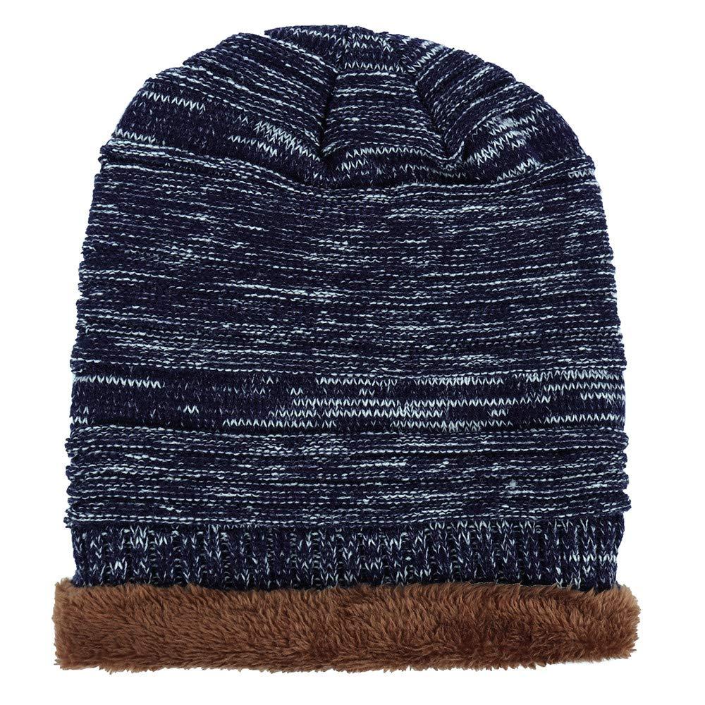 886320fefb8 iYBUIA Unisex Men Women Knit Cap Hedging Head Hat Beanie Cap Warm Outdoor  Fashion Hat(Black