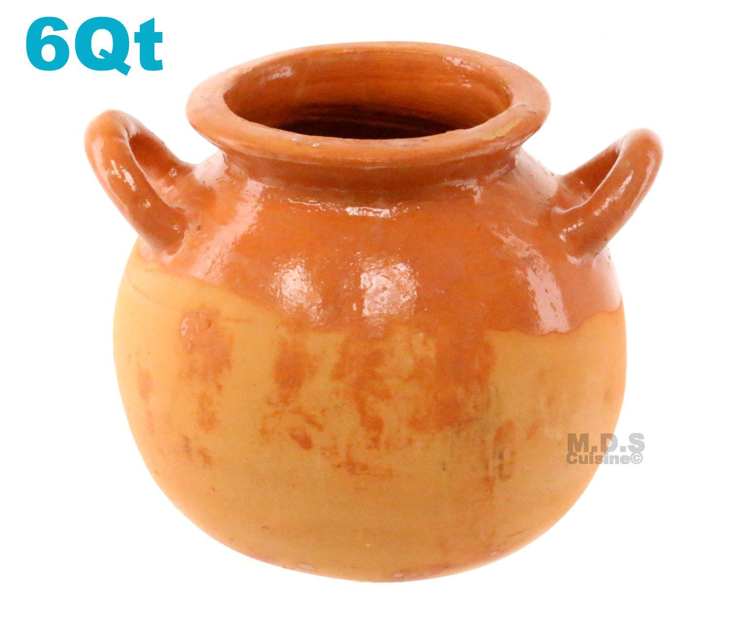 Olla De Barro Frijolera 6 Quart Cantarito Pot Traditional Decorative Artisan Artezenia Lead Free Fishbowl