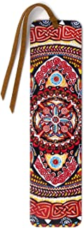 product image for Guardian Fire 4 - Large - Painting by Gaia Woolf-Nightingall - Wood Bookmark with Suede Tassel