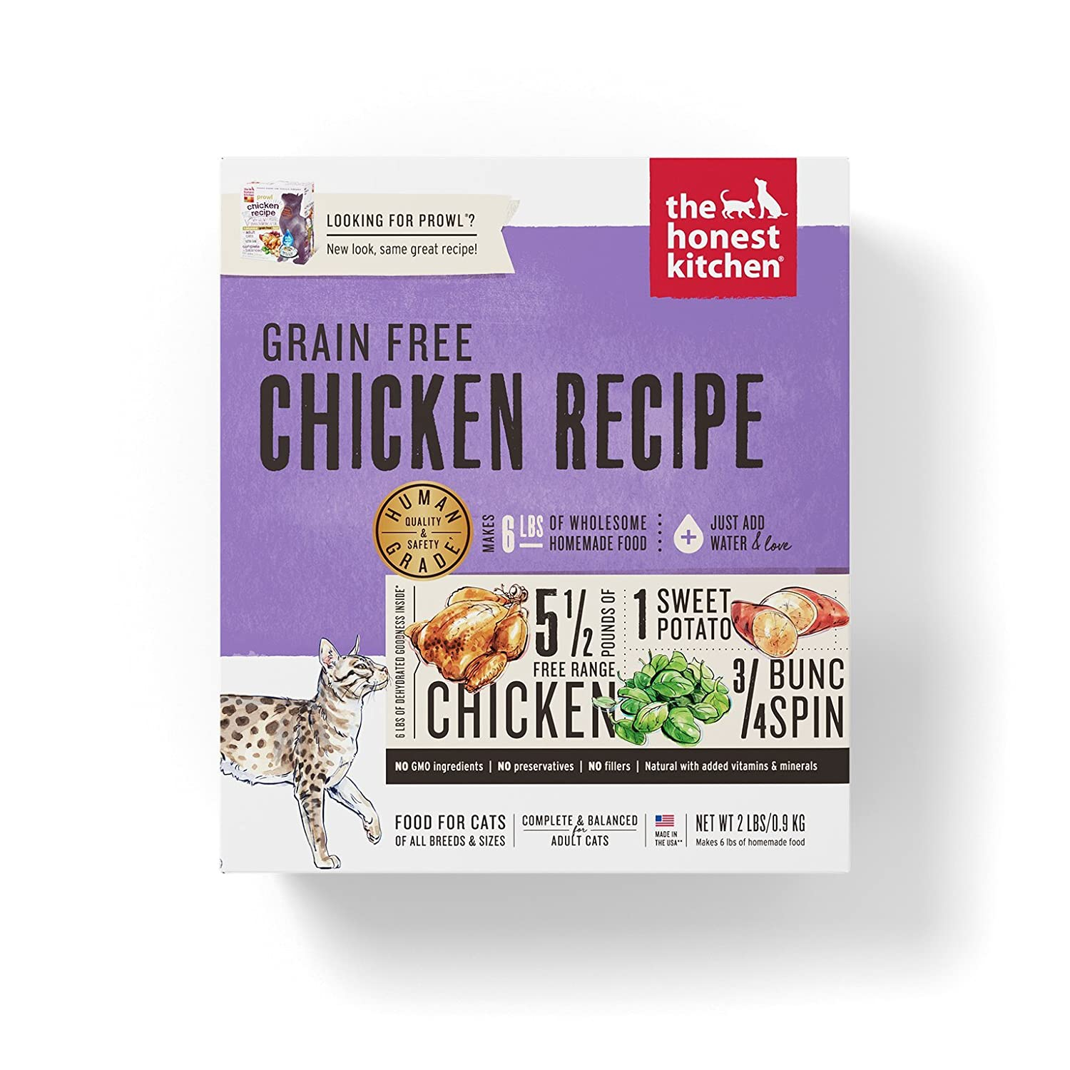 The Honest Kitchen Human Grade Dehydrated Grain Free Cat Food