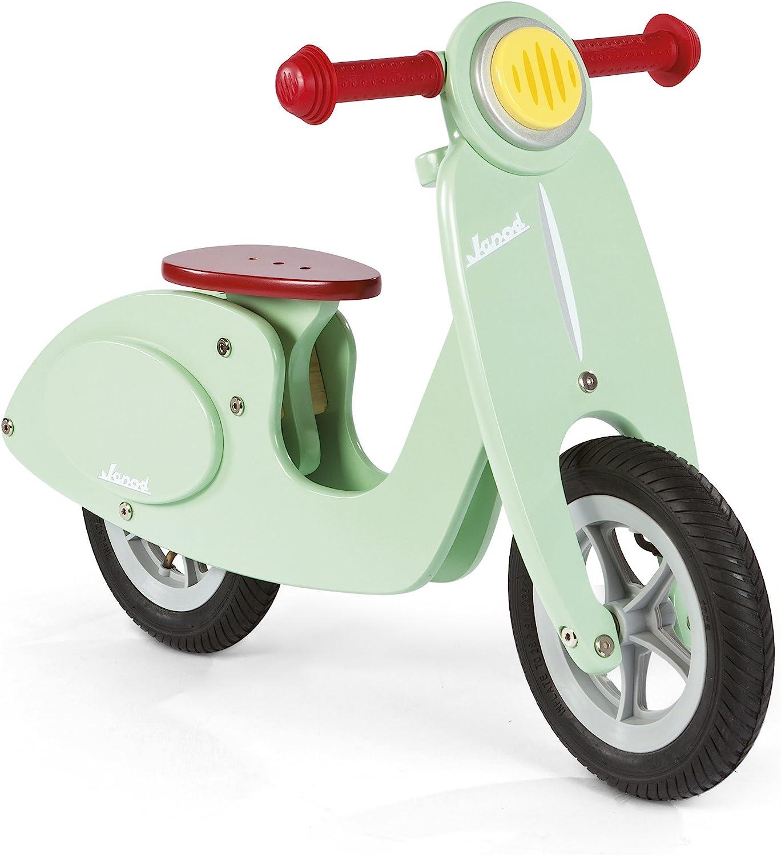 Janod - Verde Menta Bicicleta Scooter sin pedales de madera (J03243)