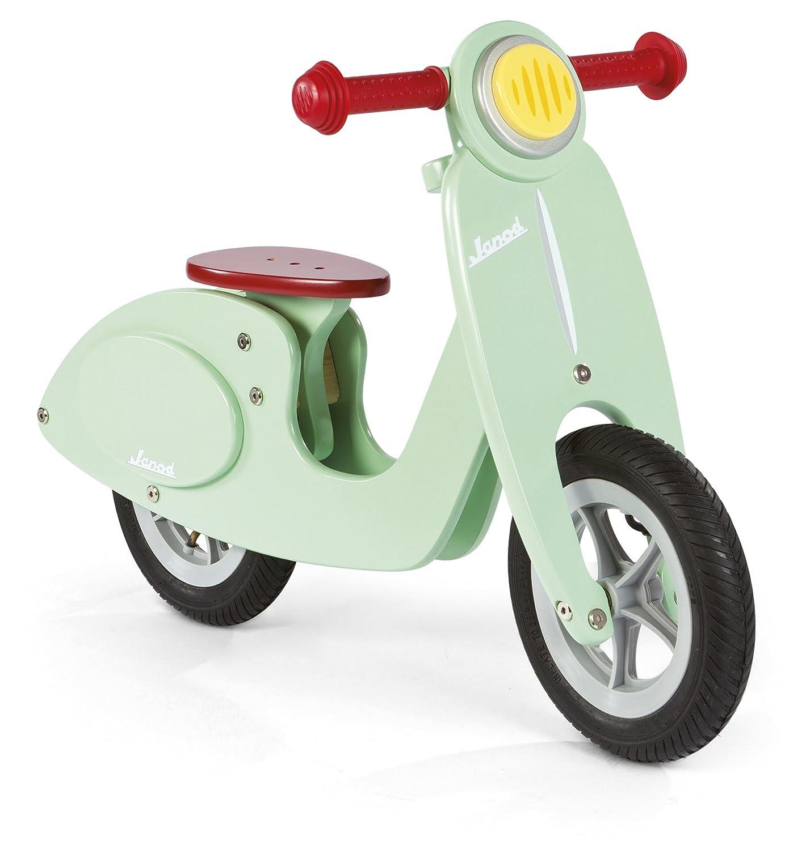 Janod Bicicleta de madera sillín ajustable de a  cm color verde