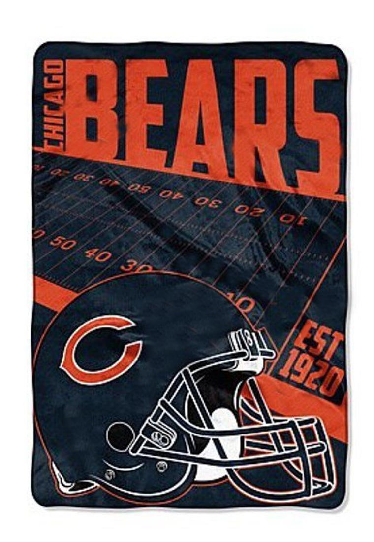 Chicago BearsブランケットXXL 62 x 90軽量NFL Bearsスロー寝具   B01M0QOZ3W