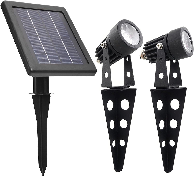 Mini 50x Twin Solar Powered Cast Aluminium Warm White Led Spotlight 60 100 Lumen Per Light Fixture For Outdoor Garden Yard Landscape Downlight Amazon Com