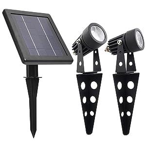 Mini 50X Twin Solar-Powered LED Spotlight