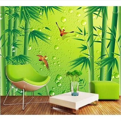 4194cb558f1 Weaeo Bosque De Bambú Fresco De Alta Definición Aves Tv Fondo Mural Fondo  De Pantalla De