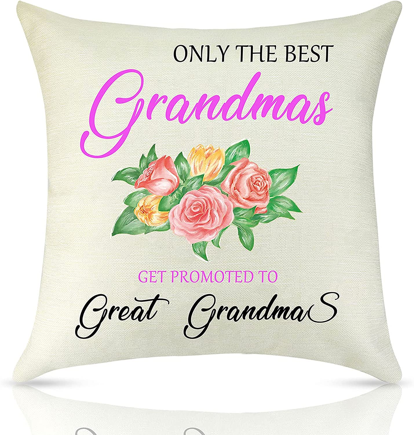 LuuWuu Grandma Gifts Pillow Cover Grandmother Gift from Grandchild Throw Pillow Case for Grandma Decorative Home Bedroom Cushion Cover Birthday Thanksgiving Day Gift for Her 18X18Inch