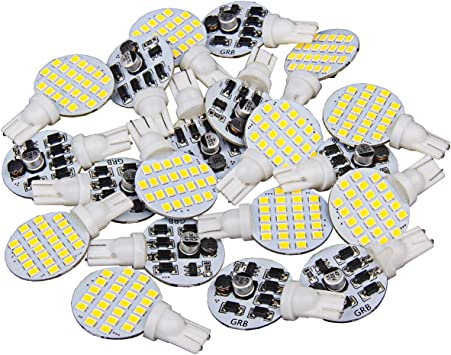 20 x Super Bright 921 194 T10 Warm White 4.8w Boat Camper Interior Wedge 24-SMD LED Light Bulbs 12v Trailer RV Pack of 20 Iandscaping
