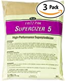 Fritz-Pak Concrete Superplasticizer Additive, 1.2lbs. Cement Water Reducer Improves Workability And Strength. Plasticizer Gives 6 in Slump Increase. Great for DIY Countertops, Slabs, Patios And Floors