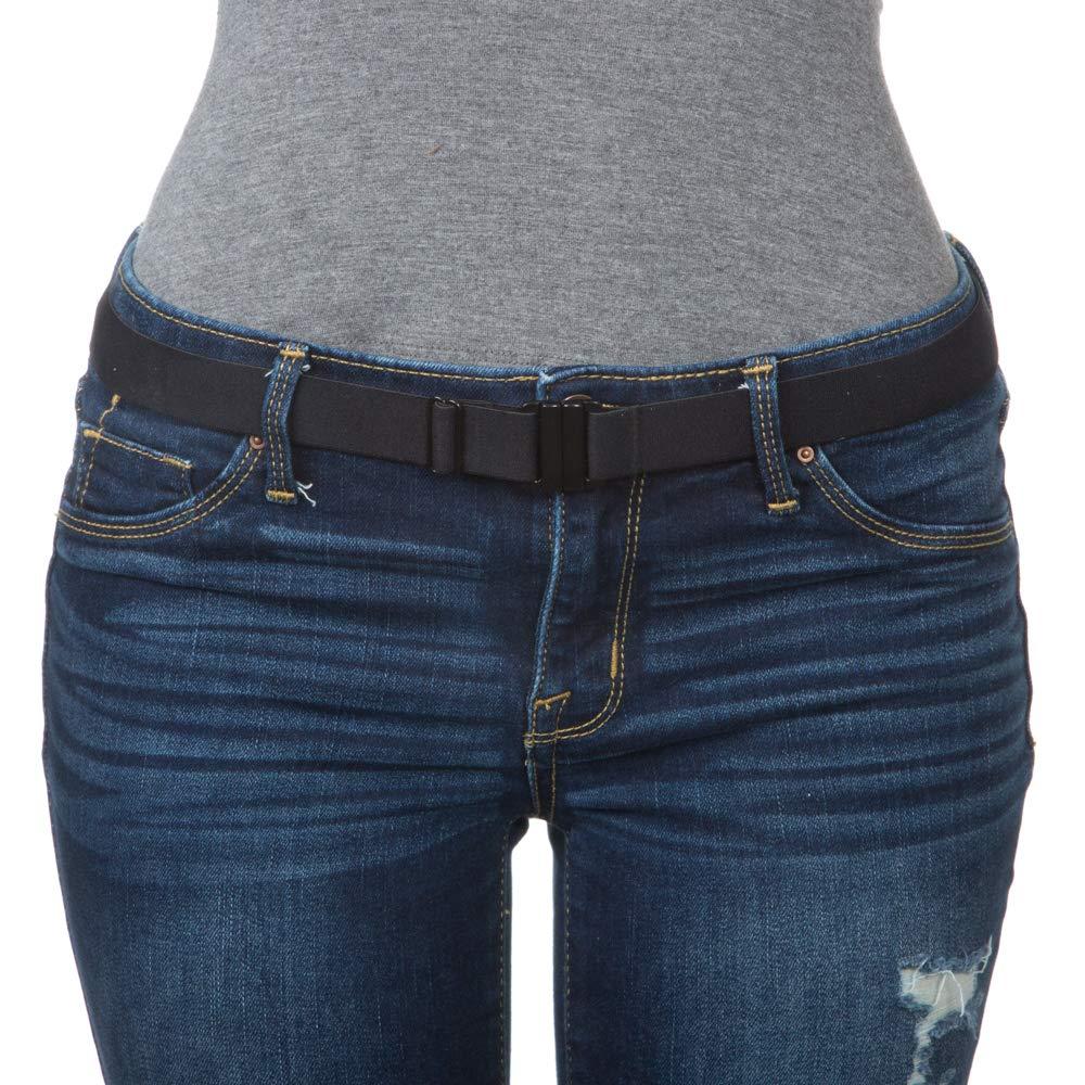 Amazon.com: Cinturón elastizado ajustable: hebilla ...