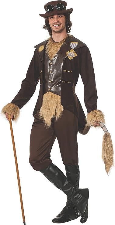 Disfraz de León Cobarde Mago de Oz steampunk para hombre: Amazon ...