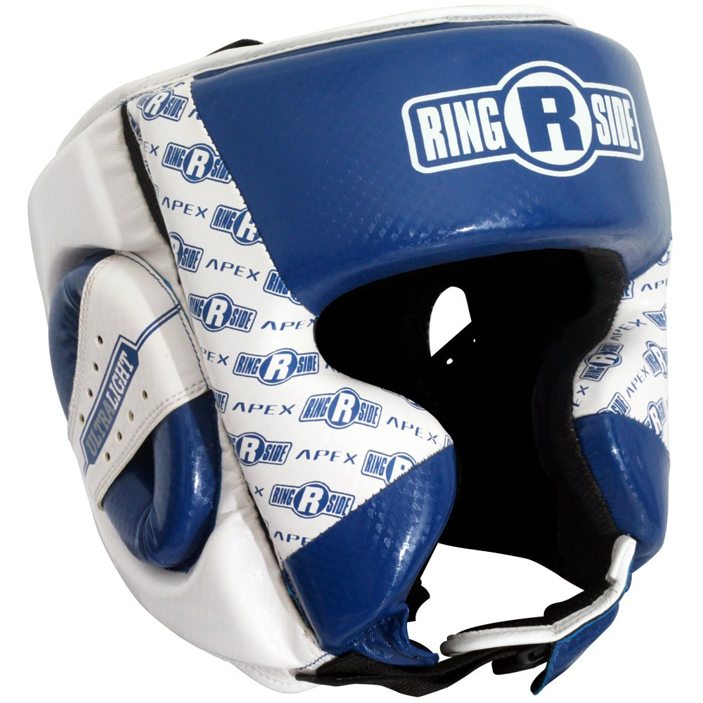 (Small/Medium, Blue/White) - Ringside Boxing Apex Training Headgear B06W551N7Z