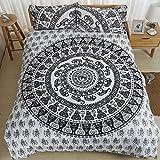 Bed Bigger Than California King AILOVYO Bedding Duvet Cover Set with Zipper - Grey 3 Piece (1 Duvet Cover + 2 Pillow Shams) Cotton Comforter Cover Set - California King