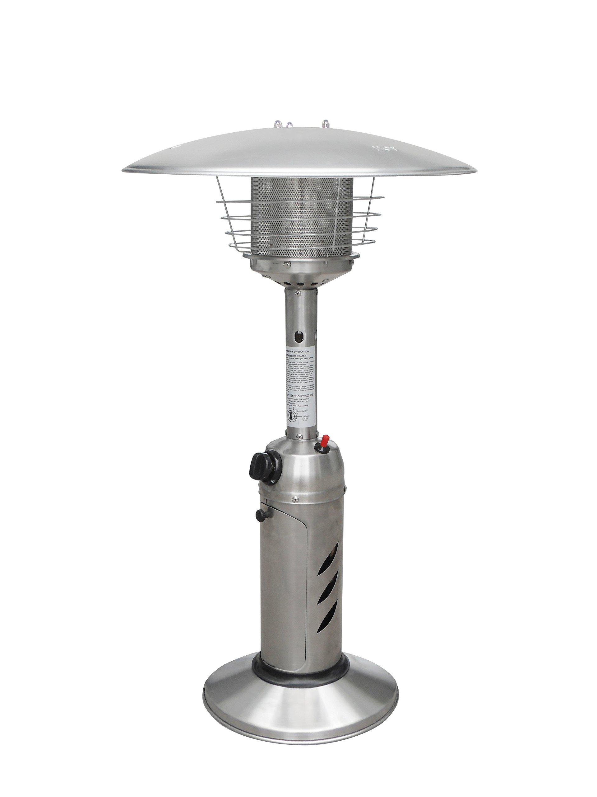 Global Air GLD-SS Table Top Stainless Steel Patio Heater, Full/Queen