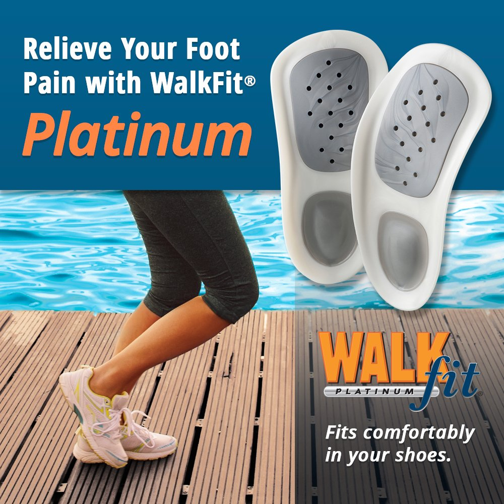 Amazon.com: WALKFIT PLATINUM FOOT ORTHOTICS - Arch Support Insoles ...