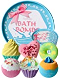 Aofmee Bath Bombs Gift Set, Handmade Lush Bubble and Floating Fizzies Spa Kit, Shea and Cocoa Dry Skin Moisturize, Birthday Valentines Mothers Day Anniversary Christmas Gifts for Women, Mom, Her, Kids