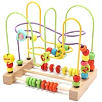 Wondertoys Preschool Fruit Bead Maze Roller Coaster Educational Toys for 1 2 3 Years...