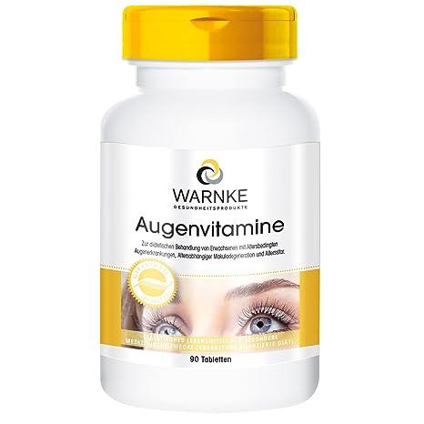 Vitaminas para ojos de Warnke, productos para la salud – multivitamínico para ojos – 90