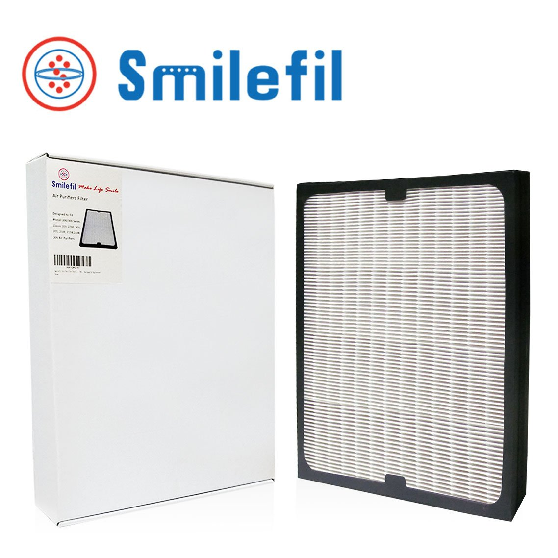 Smilefil Replacement Filter 1-Pack True HEPA Filter for Blueair 200/300 Series Particle Filter models Classic 203, 270E, 303, 201, 250E, 215B, 210B, 205