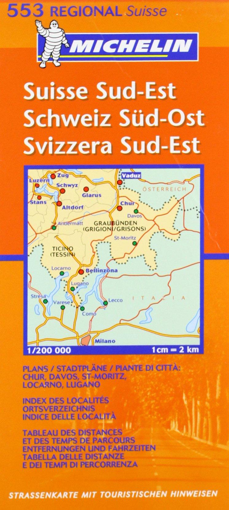 Schweiz Süd-Ost (MICHELIN Regionalkarten, Band 553)