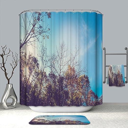 XYHX Cortina de Ducha de baño Mildewproof Waterproof Fácil de ...