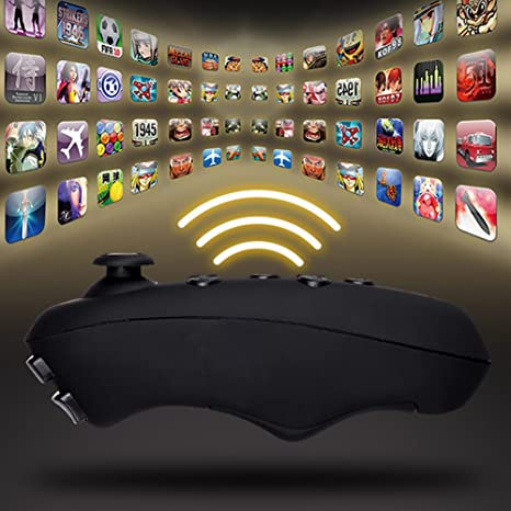 Amazon.com: Bottone Wireless Bluetooth VR-BOX Remote Control Gamepad For iPhone Samsung Android IOS(Black): Computers & Accessories