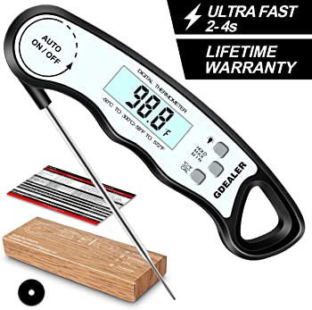 GDealer DT6 Waterproof Digital Instant Read Meat Thermometer