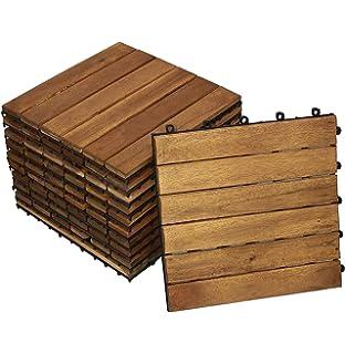 Sam Terrassenfliese 01 Akazienholz Einzelfliese Fsc 100