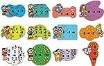Brinquedo Pedagógico Madeira T da Monica Primeiras Contas Brincadeira de Criança