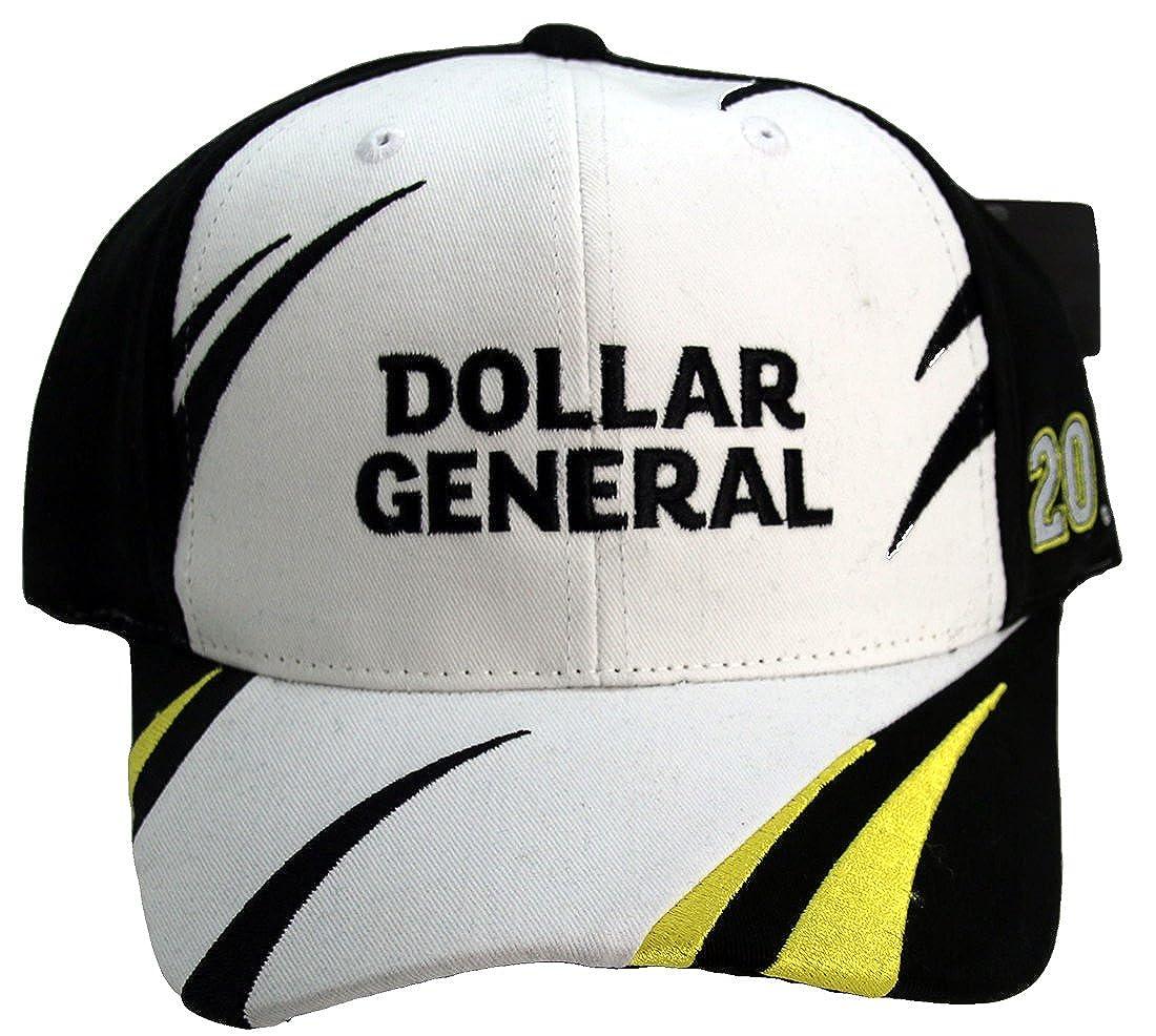Matt Kenseth #20 Dollar General Jagged Design Adult Adjustable Hat Cap Black