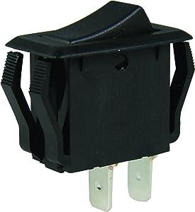 Gardner Bender GSW-41 Electrical Appliance Rocker Switch, SPST, ON-OFF, 16 A/125V AC, Spade Terminal