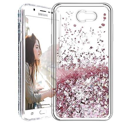 57c3e495b9 Galaxy J7 2017 Case, Caka Liquid Series Glitter Bling Flowing Floating  Luxury Liquid Sparkle Soft TPU Case for Samsung Galaxy J7 Sky Pro Prime J7  V J7 ...
