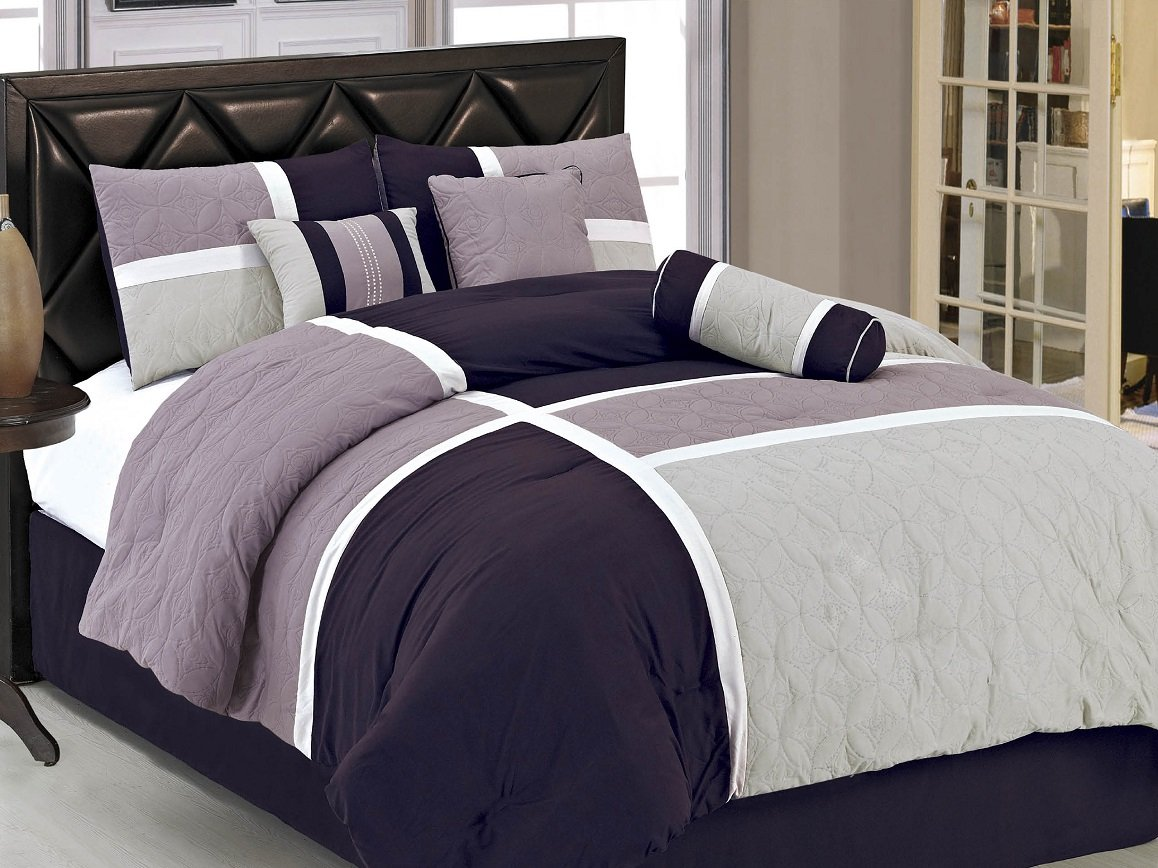 Comforter Set, Queen, Lavender Purple