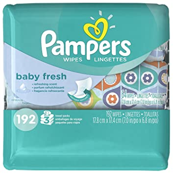 Pampers Refreshing scent, Hypoallergenic, Unique Softgrip Texture, Pure Water Lotion Baby Fresh Baby