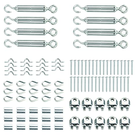 Amazon.com : Heavy Duty Stainless Steel Cable Railing Kits For ...