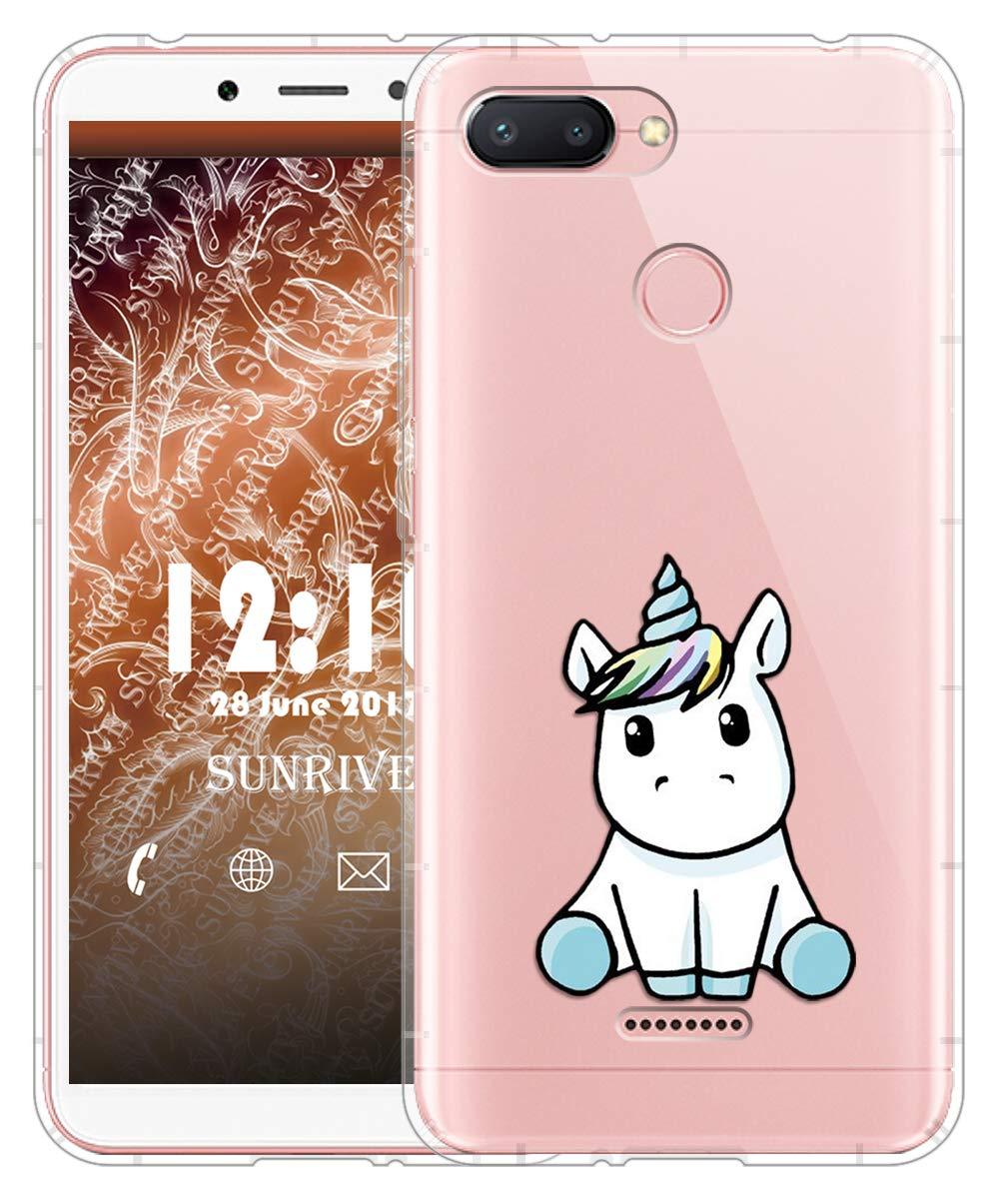 Sunrive Funda para Xiaomi Redmi S2, Silicona Slim Fit Gel Transparente Carcasa Case Bumper de Impactos y Anti-Arañazos Cojín de Aire Espalda Cover(TPU ...