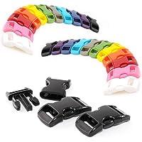 Snäppfästen färgmixningsset 3/8 tum plast (10 mm bred) / klämma fästelement/spänne för paracordarmband, hundhalsband…