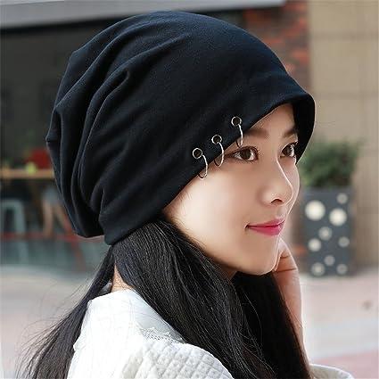 Men and Women high Elastic Hoop Turban Men Bald Head Set Baotou Hat Lady  Korean Winter f7804fb244a