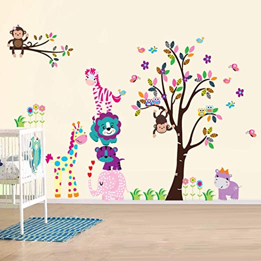 Wand Kinderzimmer | Amazon De Ay Wand Sticker Aufkleber Papier Kunst Dekoration