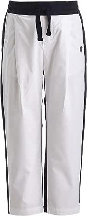 GULLIVER Pantalones para niño, color blanco y negro, 2 – 7 años, 98 – 128 cm
