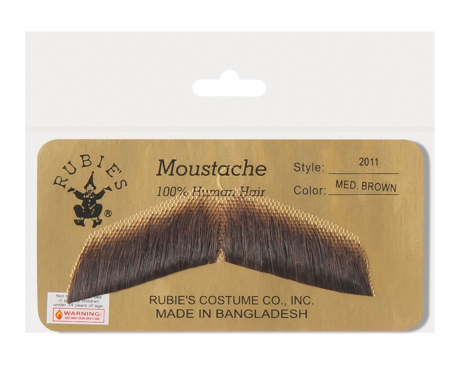 Rubie's Gentleman's Medium Brown Mustache