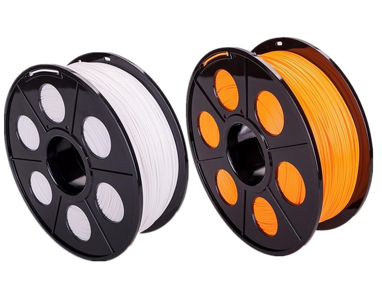 ectxo Color Blanco + Naranja 2 Set PLA 1.75 mm 1 kg/rollo ...