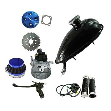 jrl CNC Cubierta de culata azul y depósito de aceite depósito para 66/80cc motorizado