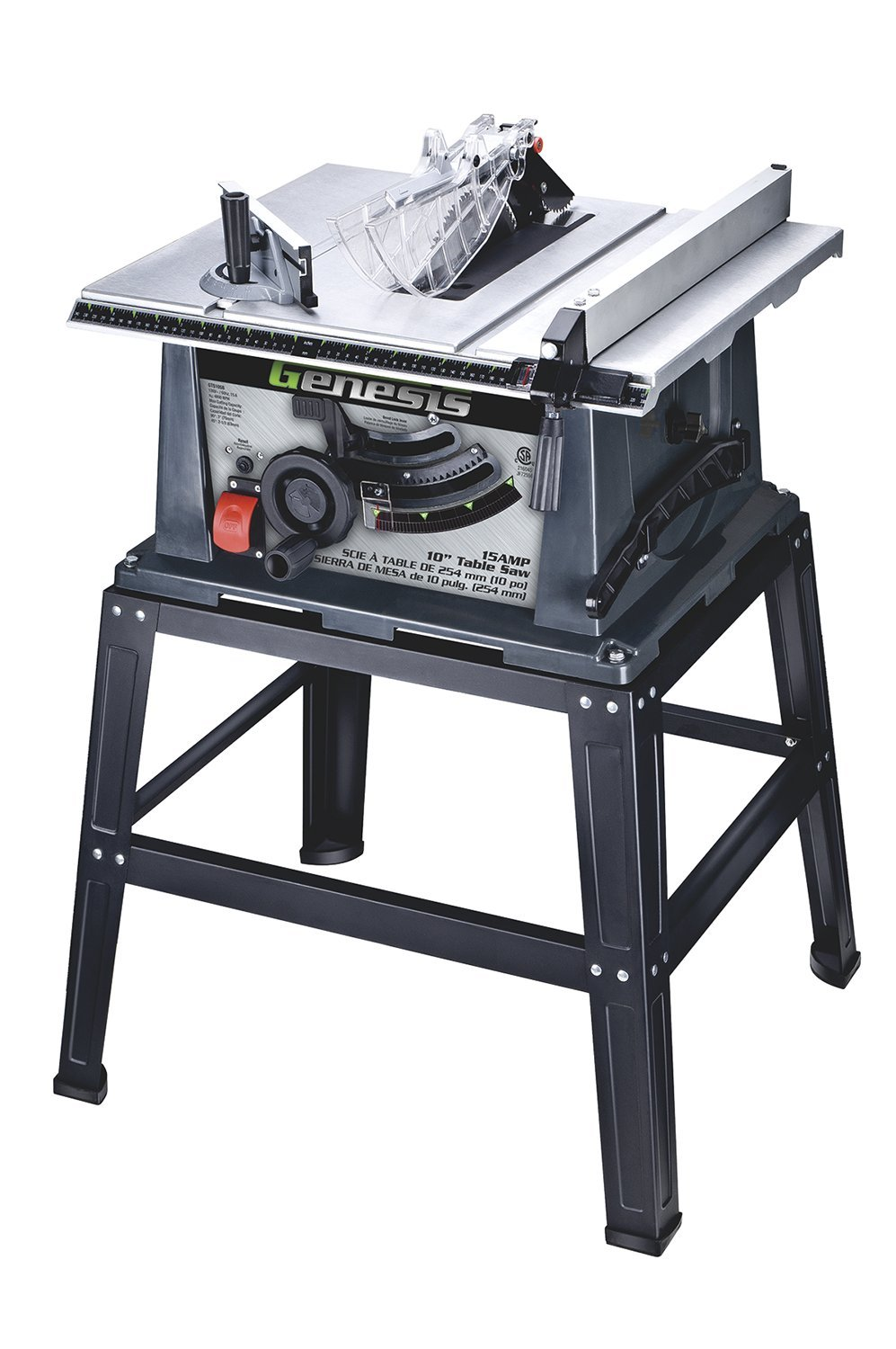 Genesis GTS10SB 10-Inch 15-Amp Table Saw with Stand - Power Table ...