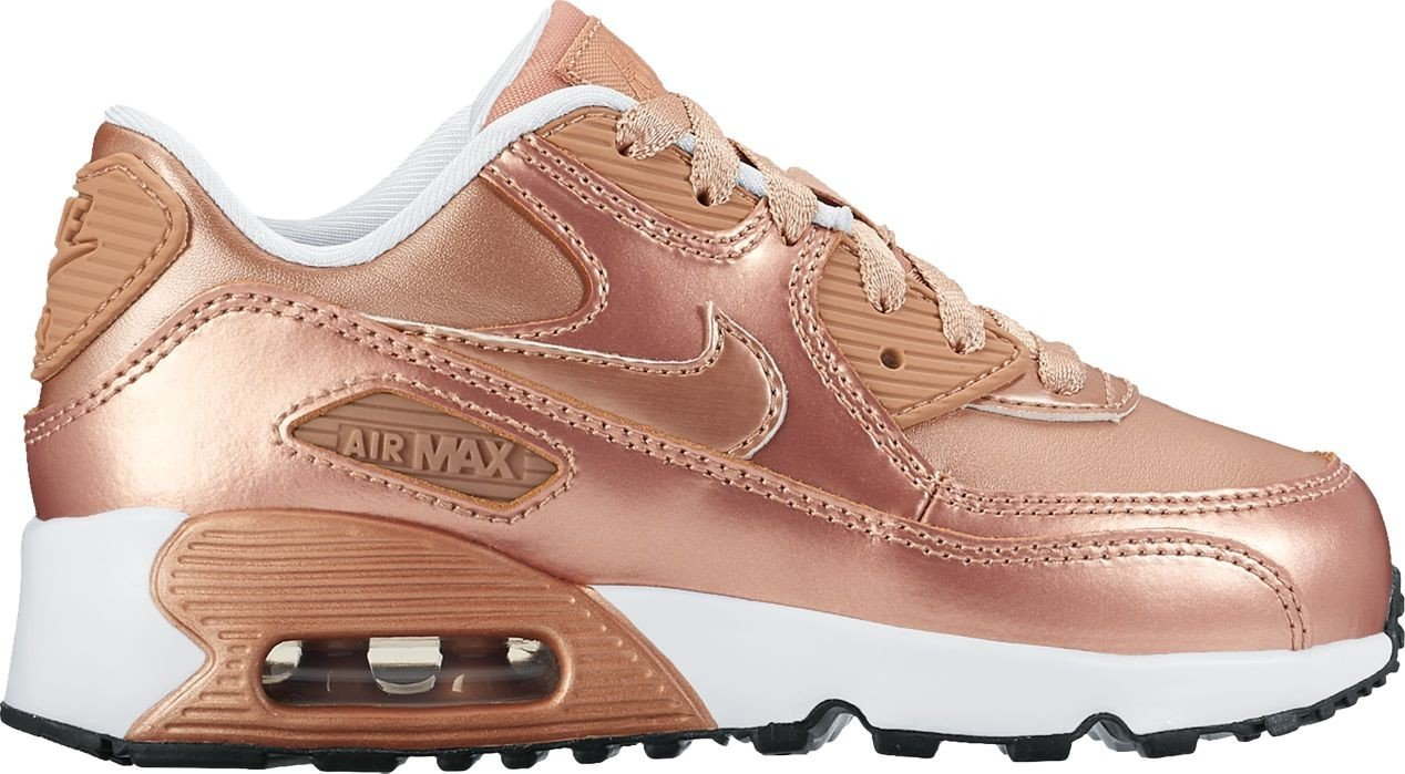 Nike Air Max 90 SE LTR Metallic Red Bronze (Little Kid) (2 M US Little Kid) by Nike (Image #1)