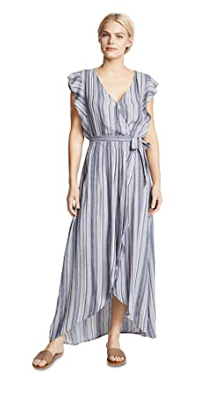 d8813a985de6 Splendid Women's Chambray Striped Dress, Chambray Multi, X-Small